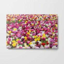 Pixelated tulips Metal Print