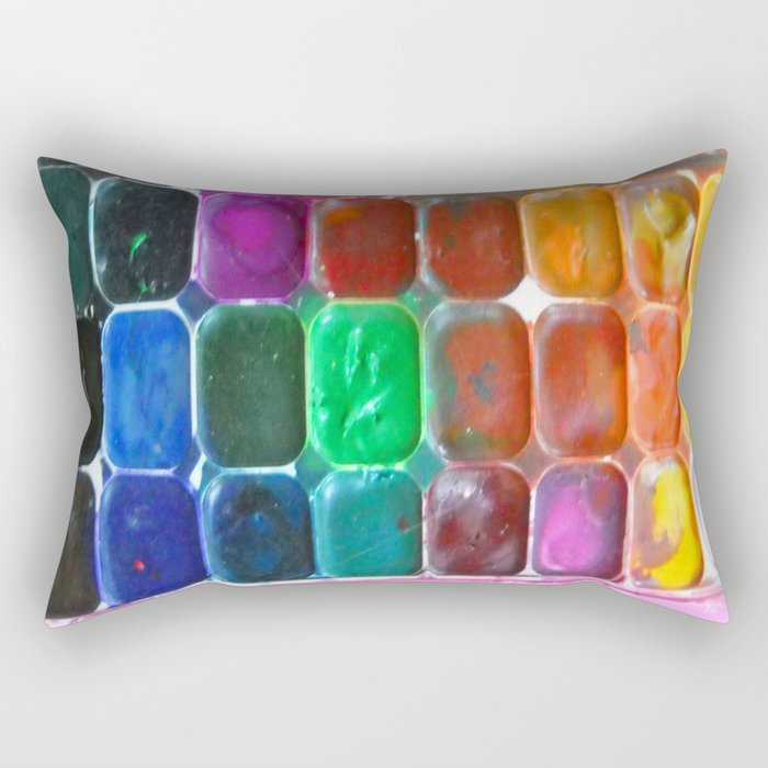Watercolours Rectangular Pillow