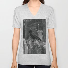 Crow In Shades Of Stone Unisex V-Neck