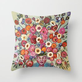 Your thoughts are seeds Throw Pillow