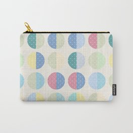 Retro . The pattern is polka dot . Carry-All Pouch