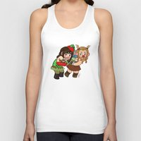 fili Tank Tops featuring Holiday Fili and Kili by Hattie Hedgehog