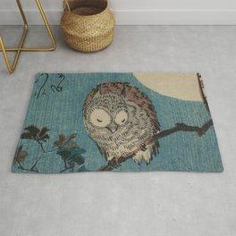 Vintage Japanese Owl Rug
