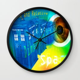 TARDIS Time and Relative Dimension in Space Wall Clock