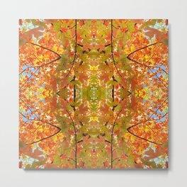Abstract Fall Colours Mandala 1478 Metal Print