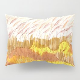 Golden Field drawing by Amanda Laurel Atkins Pillow Sham