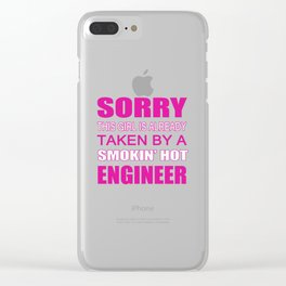 Taken By An Engineer Clear iPhone Case