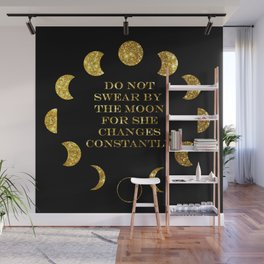 Moon Phases Gold Wall Mural