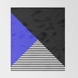 Blue & Black Geometric Abstraction Throw Blanket
