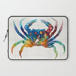 Colorful Crab Art by Sharon Cummings Laptop Sleeve