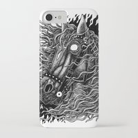 occult iPhone & iPod Cases featuring Occult horse by Iria Alcojor