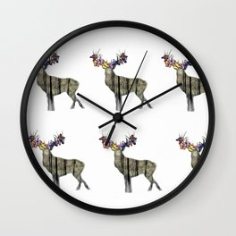 Spring with deer Wall Clock