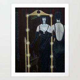 Woman in Black Velvet Art Print