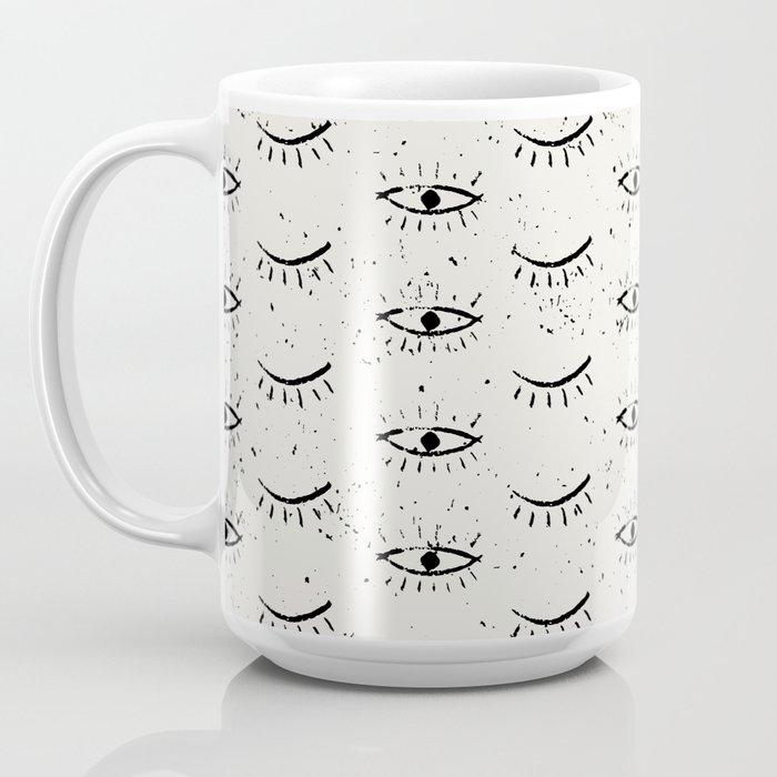 Vintage eyes hand drawn illustration pattern Coffee Mug
