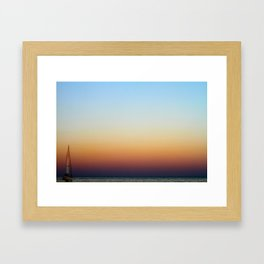 Single Sailboat Framed Art Print