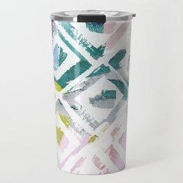 Awash   Colorful Geometric Print Travel Mug