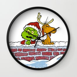 peanuts grinch Wall Clock