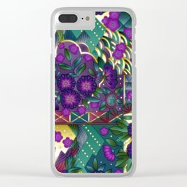 Abstract Quilt Pattern Clear iPhone Case