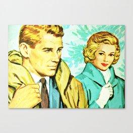 Romance in Coats Canvas Print