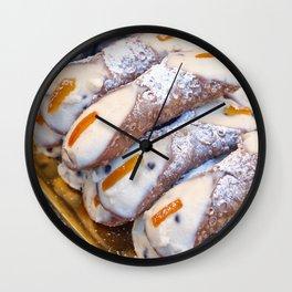 Just Sicilian cannoli Wall Clock