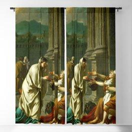 "Jacques-Louis David ""Belisarius asking for alms"" Blackout Curtain"