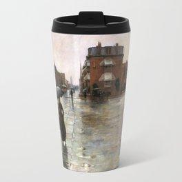 Childe Hassam - Rainy Day, Boston, 1885 Travel Mug
