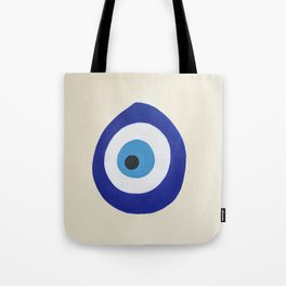 Blue Evil Eye Tote Bag