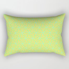 Patterns: Orange Green Flowers Rectangular Pillow