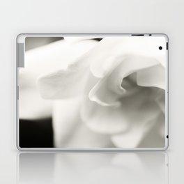 Black and White Gardenia Laptop & iPad Skin