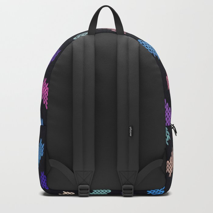 Colorful Knitted Hearts VIII Backpack
