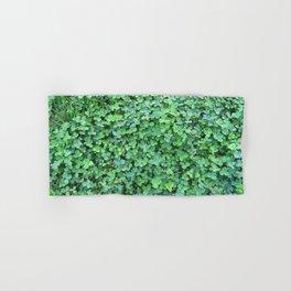 Green Clovers Nature Photo #GaneneKPhotogaphy #StPatricksDay Hand & Bath Towel