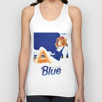 hentai Tank Tops featuring blue 1 by yougo