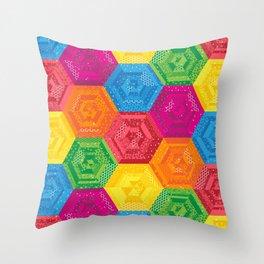 Rainbow Madchen's Hexis Throw Pillow