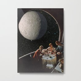 Dine Me To The Moon Metal Print