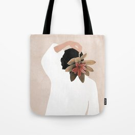 With a Flower Tote Bag