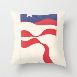 American Flag Stylistic Throw Pillow