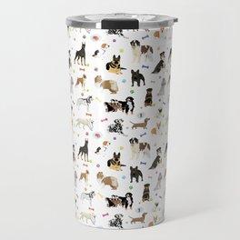 Various Dogs Pattern Travel Mug