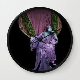 Wicker Chair Woman Wall Clock