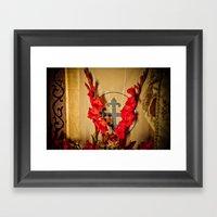 The Flowering Cross Framed Art Print