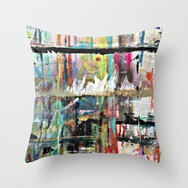 Colorful Bohemian Abstract 3 Throw Pillow
