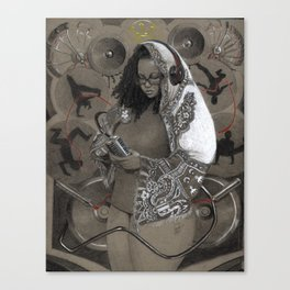 Holy Mother of HipHop Blessed Be Thy Beats. Canvas Print