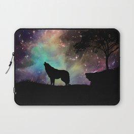Galaxy wolf | Wolf | Powerful wolf | Wolf love | Wolfsbane | Lycan Laptop Sleeve