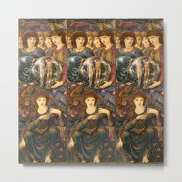 "Edward Burne-Jones ""The Days of Creation - Day 6"" Metal Print"