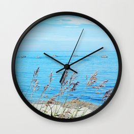 Circle of Rocks and the Tall Grass Wall Clock