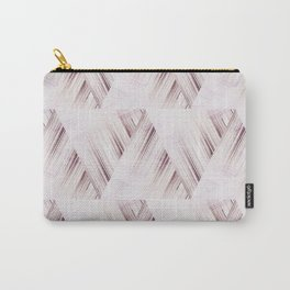 Abstract geometric pattern.Pinkish beige striped triangles . Carry-All Pouch