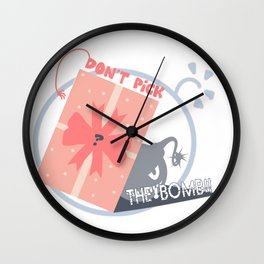 Don't Pick Up the Bomb Wall Clock