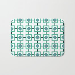 BOXED IN, TURQUOISE Bath Mat