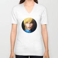 samus V-neck T-shirts featuring Samus Aran by Joe Roberts