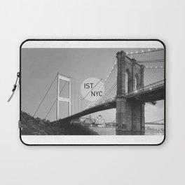 Bridges - nyc vs istanbul Laptop Sleeve