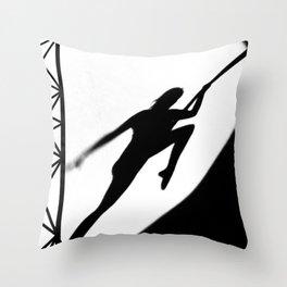 aerial acrobatics Throw Pillow